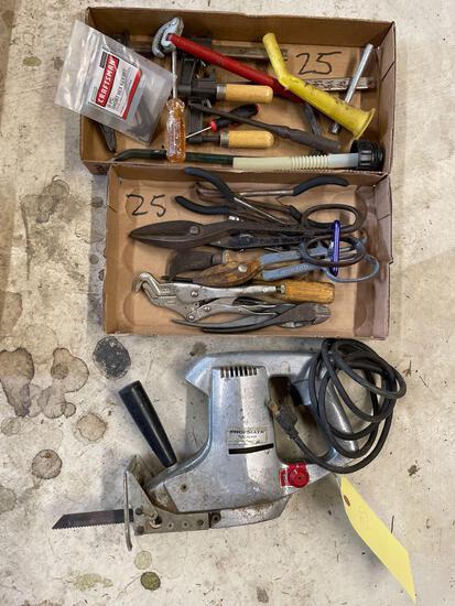 Snips, shop mate saw, tools
