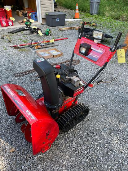 Yard Machines 26in, steerable track snow blower, 10HP, self propelled, electric start
