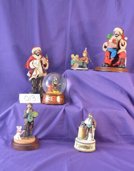 Vintage collection of 6 Emmett Kelly clowns