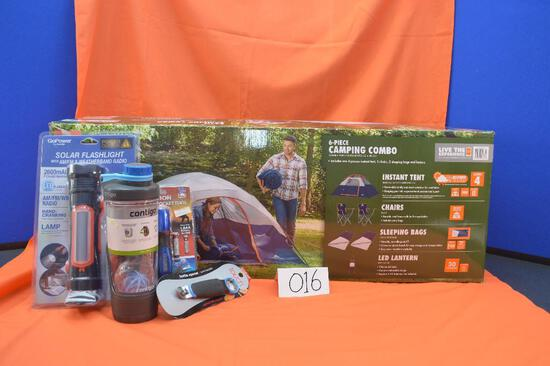 Ozark Trail camping combo, including an Instant tent that sleeps four