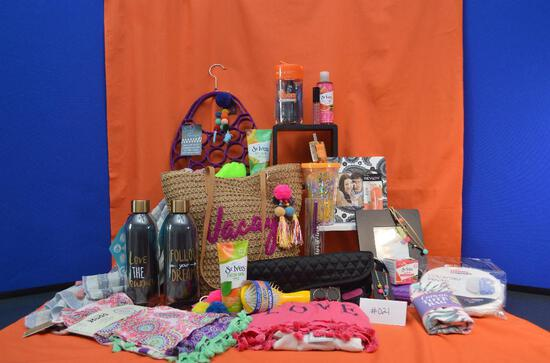 Fun-filled teen basket with over 30 items, too many to list!