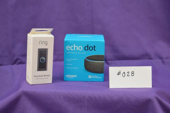 Ring Video wired doorbell and Echo Dot (Gen 4). Convenience and essential security for