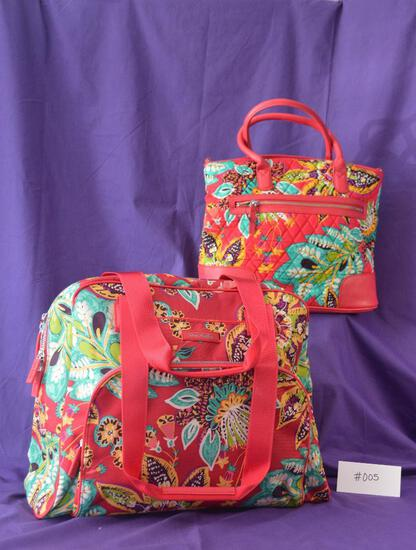 Vera Bradley Dayoff Satchel and Go Anywhere Carry On in Rhumba
