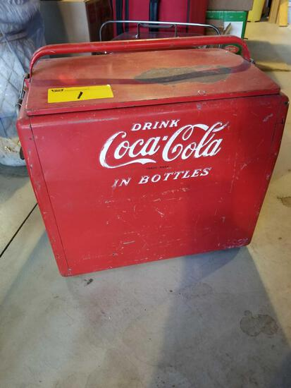 Early Coca-Cola cooler