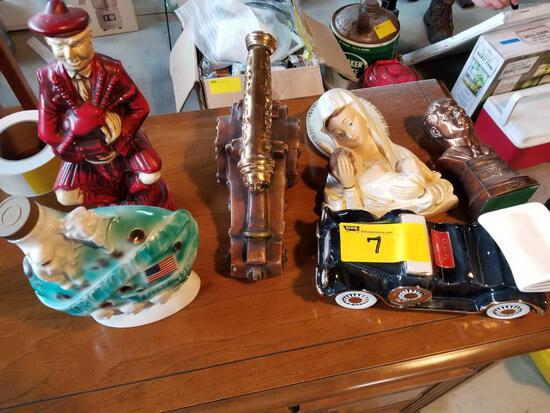 Decanters, religous items