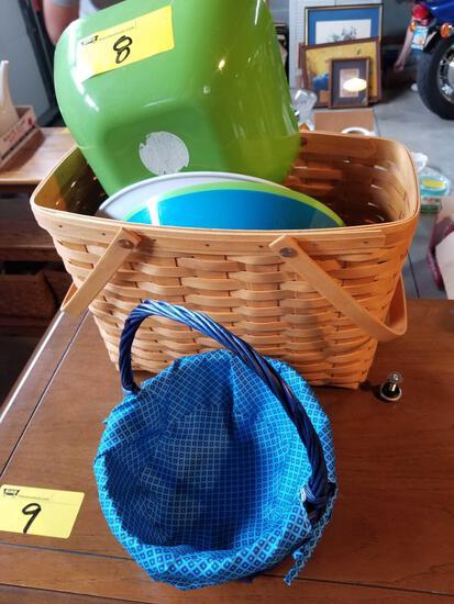 Longaberger basket, bowls