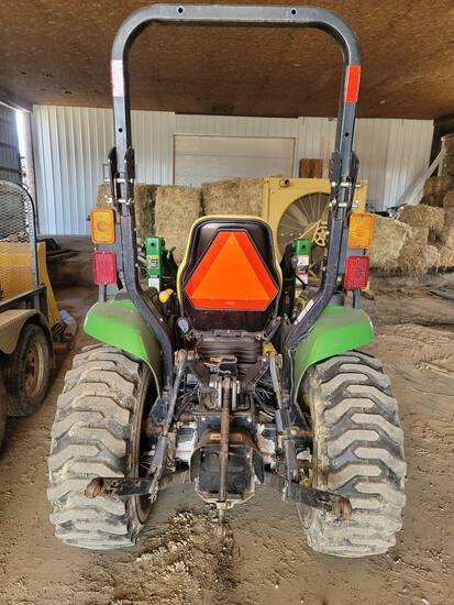 JD 4210 Diesel 4x4 Tractor w/ 420 Quicktach Loader, Bale Spear & Bucket