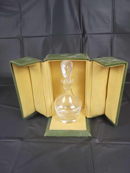 Signed Stueben perfume bottle with case, believed to be Joan Crawford