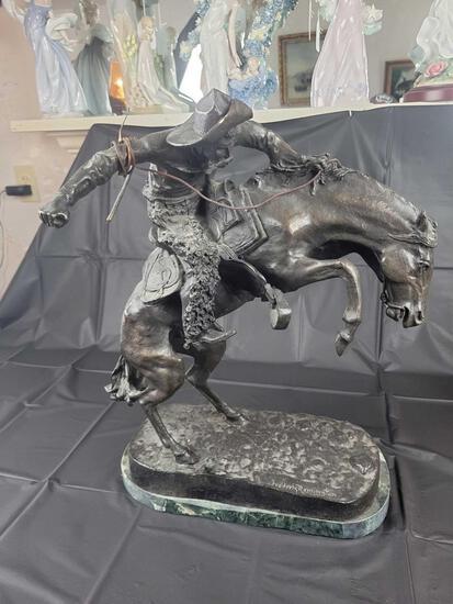 Frederick Remington bronze sculpture 21 inches tall