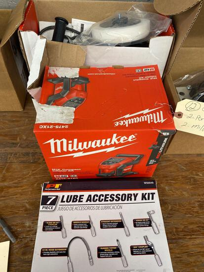 Group of tools 2 porter cable polisher 2 Milwaukee tools