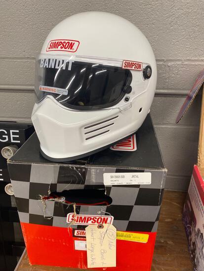New Simpson bandit helmet large white