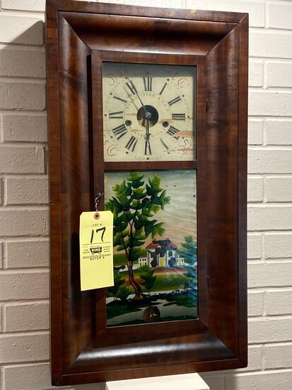 Forestville M. F. G. C. 8-day weight clock, 31 x 17 OG case.