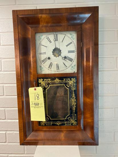 """New Haven 30 hour weight clock, 15.5"""" x 25.5"""""""