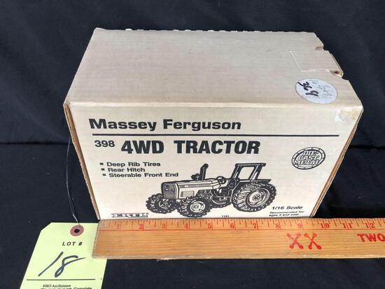 Ertl Massey Ferguson 398 four-wheel-drive 1/16 scale