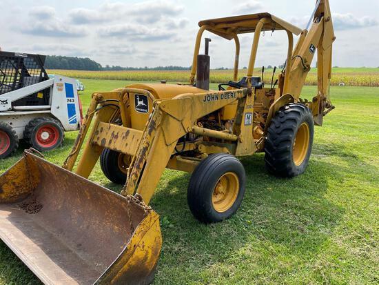 John Deere 302-A backhoe, diesel, rops,