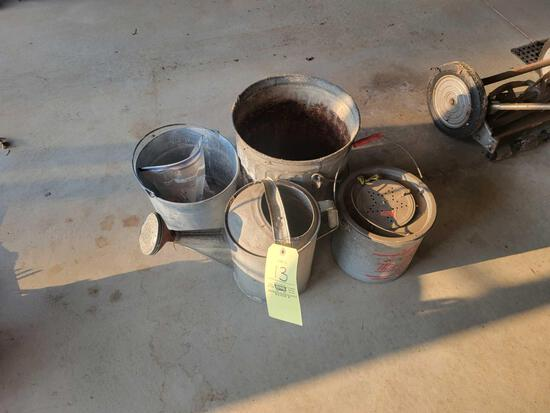 Minnow bucket, galvanized buckets, water can