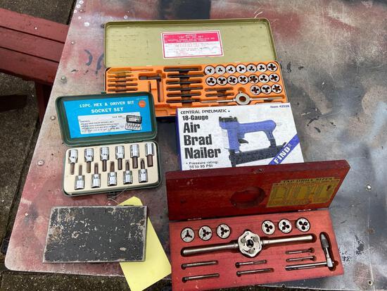 Socket Set, Tap and Die Sets, Brad Nailer