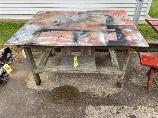 Steel Top Work Bench