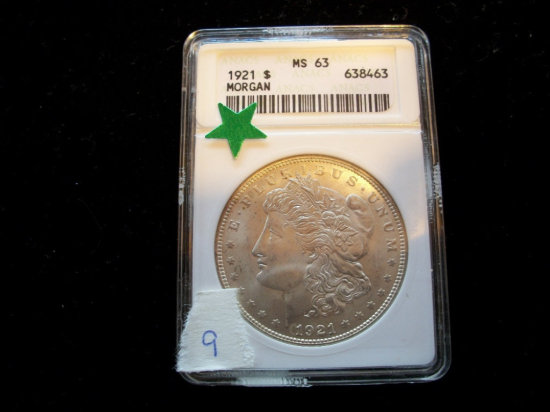 1921 MS 63  ANALS Silver Dollar