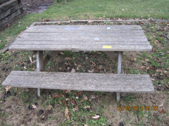 6' Wood Picnic Table