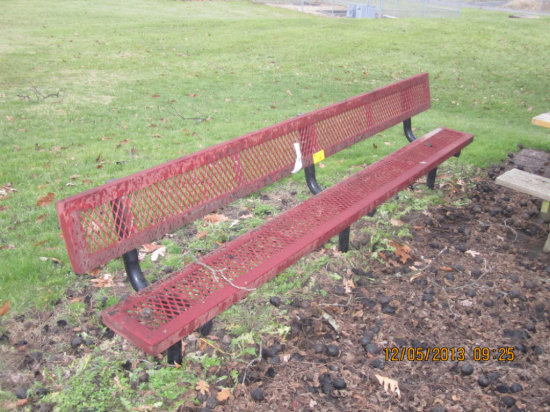 10' Steel/Rubber Bench
