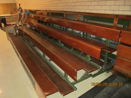 16' Section of Wooden Bleachers