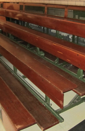 6' Section of Wooden Bleachers