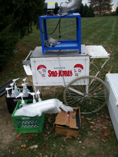 Sno-Kone Cart and Ice Shaver