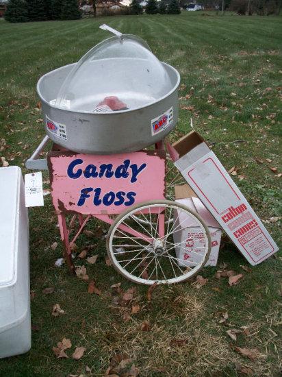 Candy Floss Cart and Floss Boss