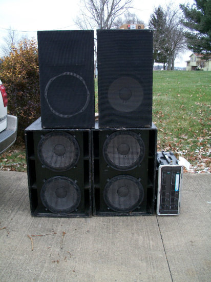 Speakers - Amp - Cords