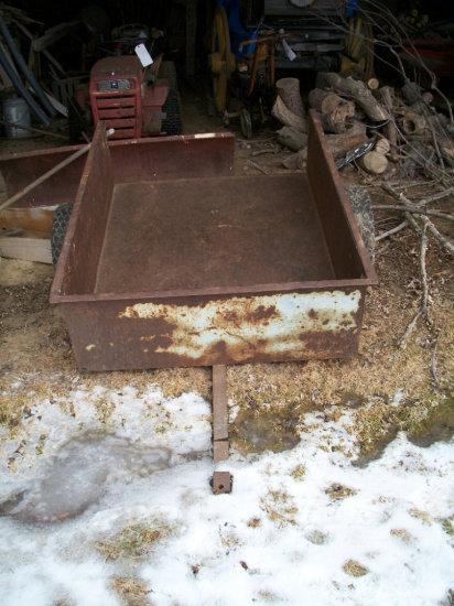 "Steel garden wagon 56""L x 45""w"