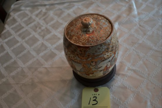 Oriental Style Cover Biscuit Jar