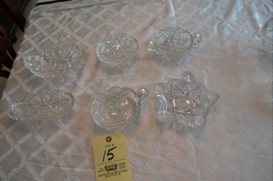 6 pc. of Cut Style Glass