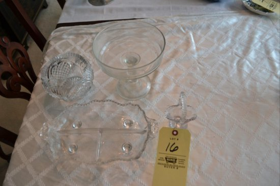 4 pc. of Glassware