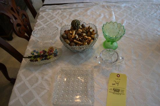 6 pc. of Assorted Glassware