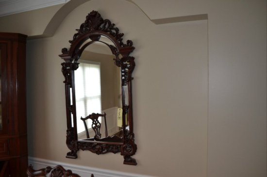 Fancy Wood Carved Hanging Mirror