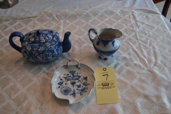 3 pc. of Blue English China
