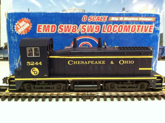 Alas Chesapeake & Ohio SW8&9 Locomotive #5244