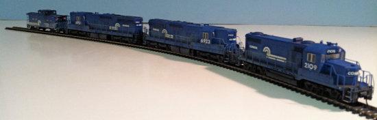 PROTO 2000 Conrail GP-20 #2109, SD-9 #6921, SD-9 #6923, N.E. Caboose #18807