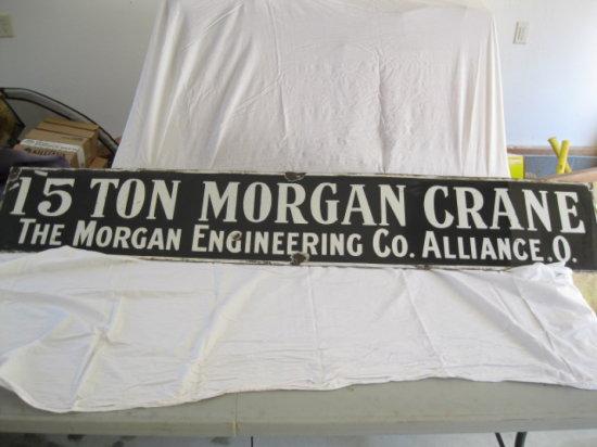 15 Ton Morgan craine porcelain sign