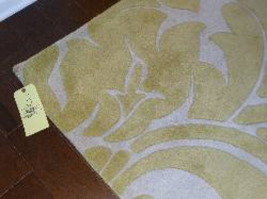 White and yellow area rugs