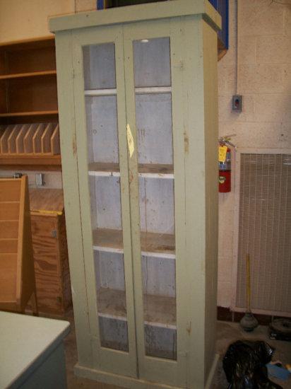 Two door paint/stain cabinet
