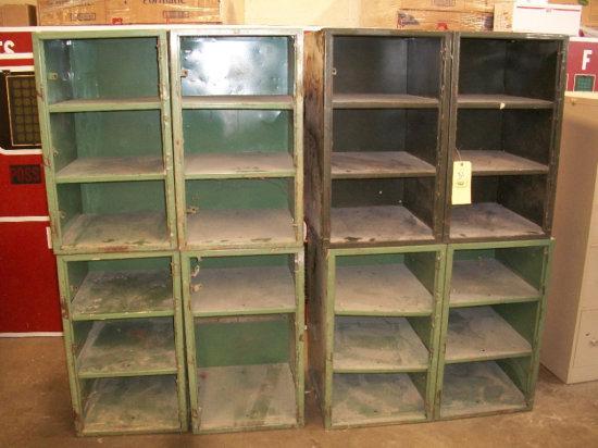 Assorted metal storage bins