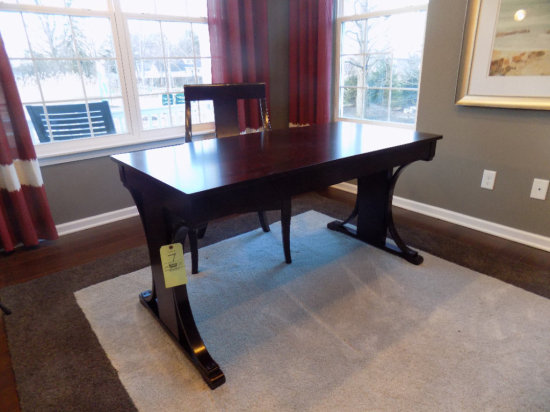 Coaster desk and chair
