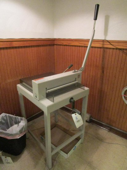 Triumph Commercial Paper cutter on stand