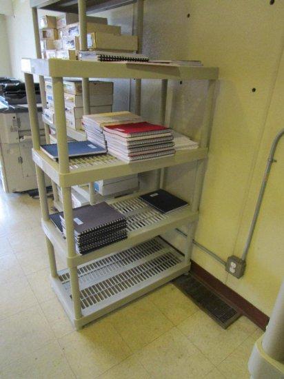 Six adjustable 4 tier shelf units