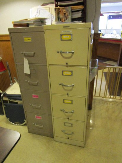 Two 4 drawer file cabinets