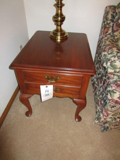 Henkel Harris Lamp Table with Queen Anne Legs