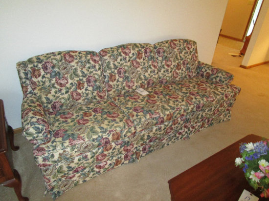 Smith Bros. 3 Cushion Floral Sofa
