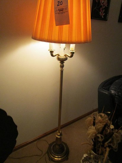 2 Floor Lamps and Vase